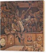Michael Vick Wood Print by Curtis James