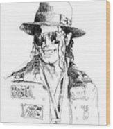 Michael's Jacket Wood Print by David Lloyd Glover