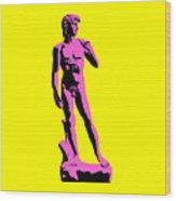 Michelangelos David - Punk Style Wood Print by Pixel Chimp