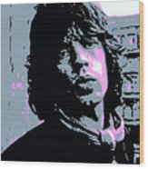Mick Jagger In London Wood Print by David Lloyd Glover
