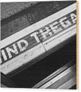 Mind The Gap Between Platform And Train At London Underground Station England United Kingdom Uk Wood Print by Joe Fox