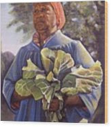Miss Emma's Collard Greens Wood Print by Curtis James
