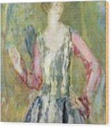 Miss Nancy Cunard Wood Print by Ambrose McEvoy
