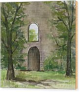 Mission Wall Wood Print by Arline Wagner