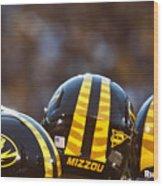 Mizzou Football Helmet Wood Print by Replay Photos
