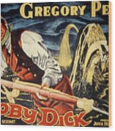Moby Dick, Gregory Peck, 1956 Wood Print by Everett