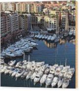 Monaco Wood Print by Tom Prendergast