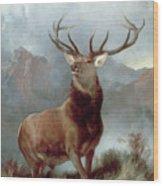 Monarch Of The Glen Wood Print by Sir Edwin Landseer