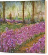 Monet's Garden In Cannes Wood Print by Jerome Stumphauzer