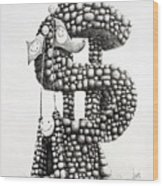 Money Monument Wood Print by James Williamson