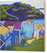 Monhegan Harbor Wood Print by Debra Robinson