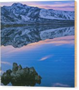 Mono Lake Twilight Wood Print by Inge Johnsson