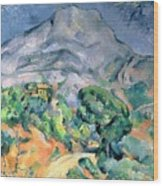 Mont Sainte Victoire Wood Print by Paul Cezanne