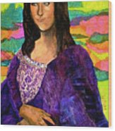 Montage Mona Lisa Wood Print by Laura  Grisham
