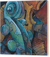 Moody Blues Wood Print by Susanne Clark