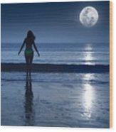 Moonlight Wood Print by MotHaiBaPhoto Prints