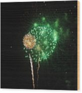 More Fireworks  Wood Print by Brynn Ditsche