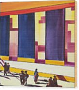 Morning Commute Cle Wood Print by JoAnn DePolo