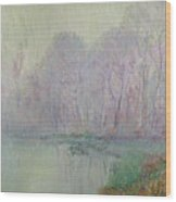 Morning Mist Wood Print by Gustave Loiseau