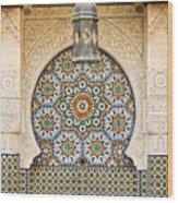 Moroccan Fountain Wood Print by Tom Gowanlock
