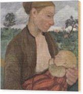 Mother And Child Wood Print by Paula Modersohn Becker