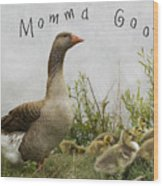 Mother Goose Wood Print by Juli Scalzi