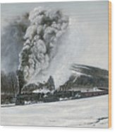 Mount Carmel Eruption Wood Print by David Mittner