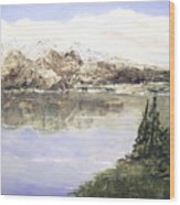 Mountain Majesty Wood Print by Terry Honstead
