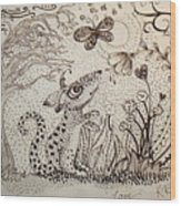 Mouse Wood Print by Kathleen Raven