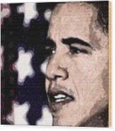 Mr. President Wood Print by LeeAnn Alexander