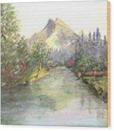 Mt Bundle Wood Print by Nicholas Minniti