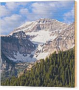 Mt. Timpanogos In The Wasatch Mountains Of Utah Wood Print by Utah Images