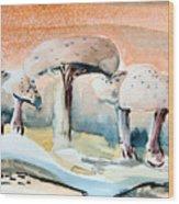 Mushroom Heaven Wood Print by Mindy Newman