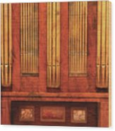 Music - Organist - Skippack  Ville Organ - 1835 Wood Print by Mike Savad