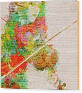 Music In My Soul Wood Print by Nikki Smith