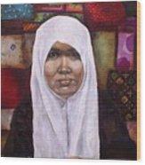 Muslim Woman Wood Print by Ixchel Amor