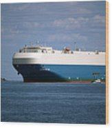 Mv Marvelous Ace Inbound Port Of Baltimore Wood Print by Wayne Higgs