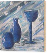 My Blue Vases Wood Print by J R Seymour