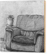My Favorite Chair Wood Print by Wendy Keely