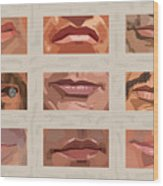 Mystery Mouths Of The Action Genre Wood Print by Mitch Frey