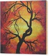 Mystic Firestorm Wood Print by Jordanka Yaretz