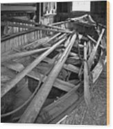 Mystic Seaport Whaling Boat Wood Print by John Haldane