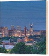 Nashville By Night 1 Wood Print by Douglas Barnett