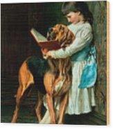 Naughty Boy Or Compulsory Education Wood Print by Briton Riviere