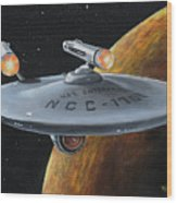 Ncc-1701 Wood Print by Kim Lockman