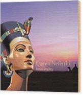 Nefertiti Wood Print by Debbie McIntyre