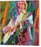 Neil Diamond Hot August Night Wood Print by David Lloyd Glover