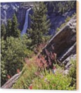 Nevada Falls Yosemite National Park Wood Print by Alan Lenk