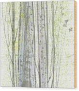 New Leaves Wood Print by Mui-Joo Wee