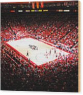 New Mexico Lobos University Arena Wood Print by Replay Photos